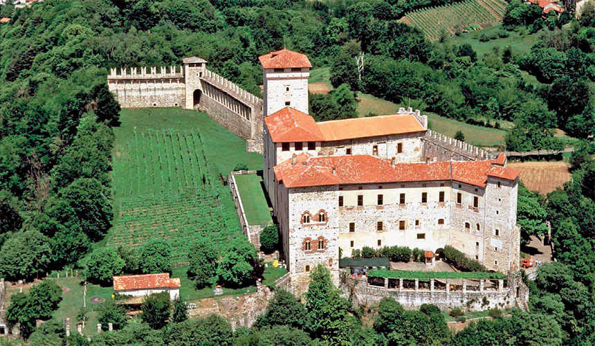 Rocca Borromeo at Angera, province of Varese.